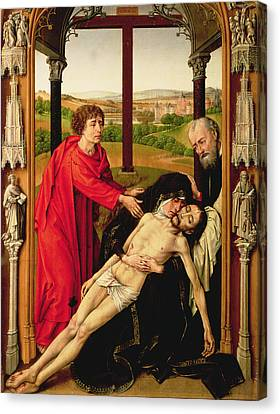 St John The Evangelist Canvas Print - The Lamentation Of Christ by Rogier van der Weyden