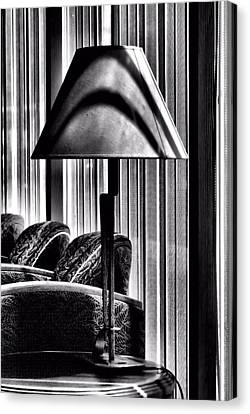 Canvas Print featuring the photograph The Lamp In The Lobby by Bob Wall