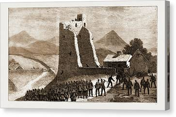 The Land Agitation In Ireland, 1881 Storming Castletown Canvas Print by Litz Collection