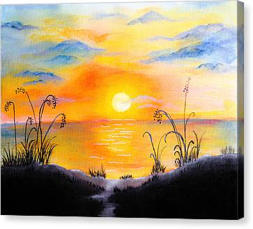 The Land Of The Dying Sun Canvas Print by Nirdesha Munasinghe