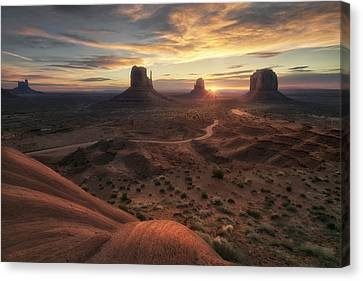 Monument Valley Canvas Print - The Landscape Of My Dreams by Fiorenzo Carozzi