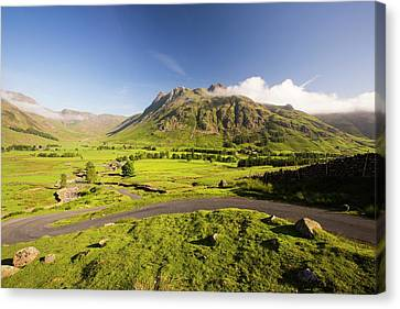 The Langdale Pikes Canvas Print by Ashley Cooper