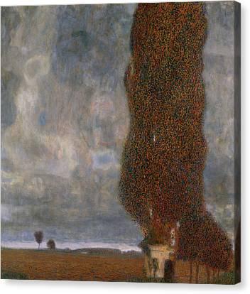 The Large Poplar II Gathering Storm Canvas Print by Gustav Klimt
