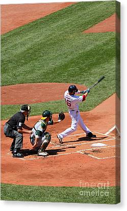 The Laser Show Dustin Pedroia Canvas Print
