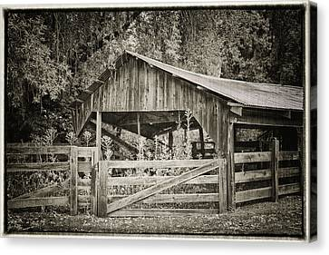 Sonoma Valley Canvas Print - The Last Barn by Joan Carroll