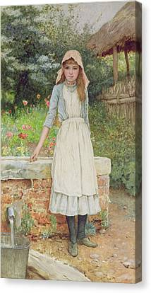 The Last Chore Canvas Print by Edward Killingworth Johnson