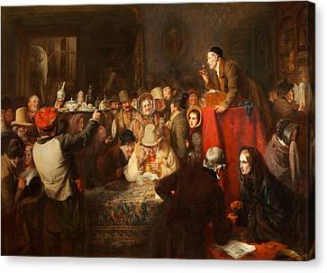 Crowd Scene Canvas Print - The Last Day Of The Sale by George Bernard O'Neill