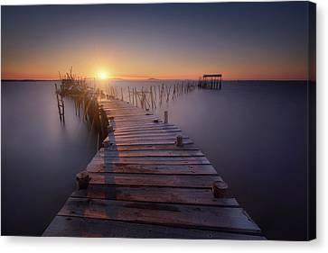 Blue Hour Canvas Print - The Last Dock by Iv?n Ferrero