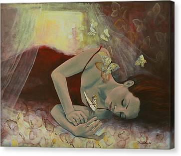 The Last Dream Before Dawn Canvas Print by Dorina  Costras