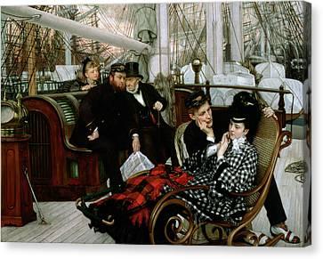 The Last Evening, 1873 Oil On Canvas Canvas Print by James Jacques Joseph Tissot