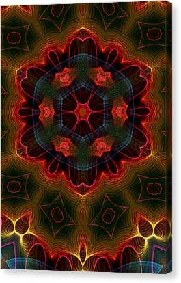 Canvas Print featuring the digital art The Last Flower II by Owlspook