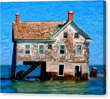 The Last House On Holland Island Canvas Print by Michael Pickett