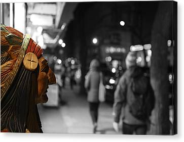 The Last Indian In New York Canvas Print by Lee Dos Santos