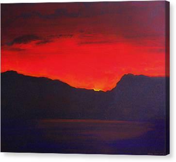 The Last Light 2012 Canvas Print