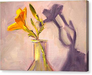 The Last Lily Canvas Print by Nancy Merkle