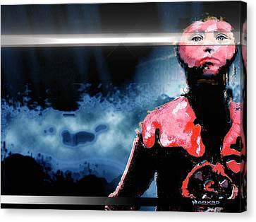 Canvas Print featuring the digital art The Last 'man' On Earth Stands... by A Dx