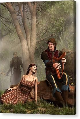 The Last Song Of Tristan Canvas Print by Daniel Eskridge