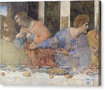Detail Of The Last Supper Canvas Print by Leonardo da Vinci