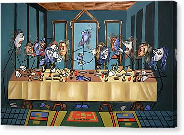The Last Supper Canvas Print by Anthony Falbo