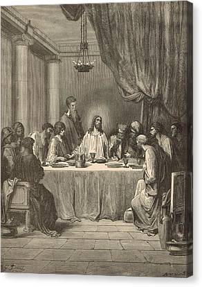 The Last Supper Canvas Print by Antique Engravings