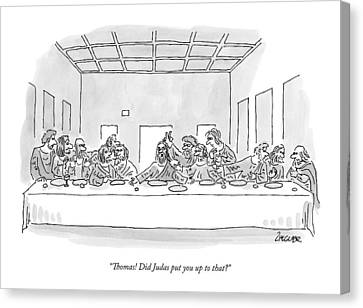 Last Supper Canvas Print - The Last Supper by Jack Ziegler
