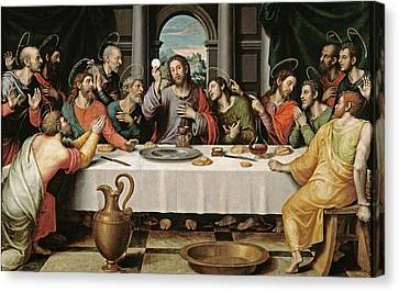 The Last Supper Canvas Print by Joan de Joanes