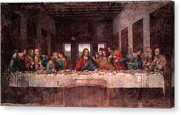 The Last Supper Canvas Print by Leonardo Davinci