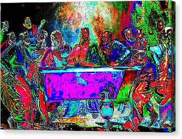Last Supper Canvas Print - The Last Supper Rendition 01 by Ricky Nathaniel