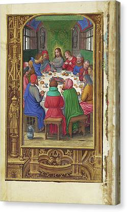 The Last Supper Simon Bening, Flemish, About 1483 - 1561 Canvas Print by Litz Collection