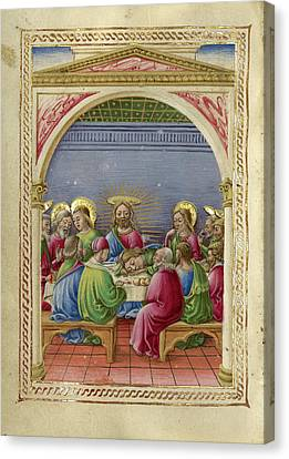 The Last Supper Taddeo Crivelli, Italian, Died About 1479 Canvas Print by Litz Collection