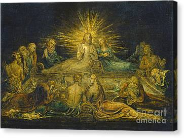 The Last Supper Canvas Print by William Blake