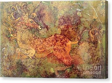 The Last Unicorn Canvas Print by Delona Seserman