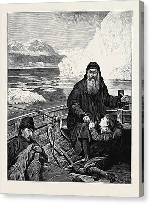 The Last Voyage Of Henry Hudson From The Picture By John Canvas Print by English School