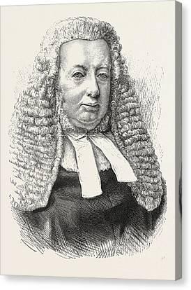 1876 Canvas Print - The Late Mr. Justice Quain, John Richard Quain 18161876 by English School