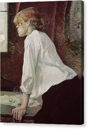 Laundry Canvas Print - The Laundress by Henri de Toulouse Lautrec