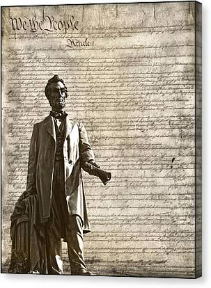 Democrats Canvas Print - The Law by Dan Sproul