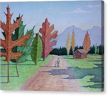 The Leaf Trees Canvas Print