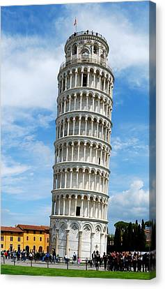 The Leaning Tower Of Pisa Canvas Print by Gianfranco Weiss