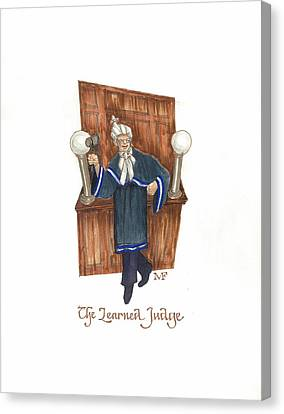 The Learned Judge Canvas Print by Marty Fuller