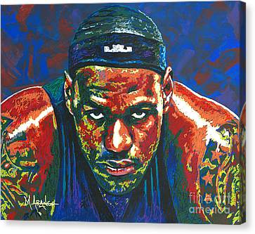 Lebron Canvas Print - The Lebron Death Stare by Maria Arango