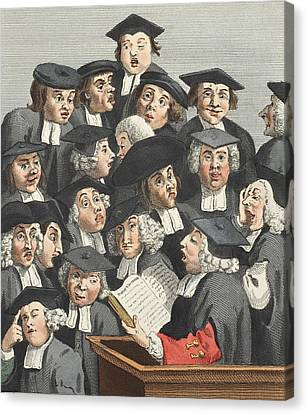 Caricature Canvas Print - The Lecture, Illustration From Hogarth by William Hogarth