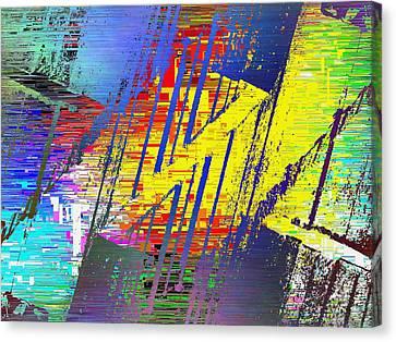 The Ledges Three Cubed Canvas Print