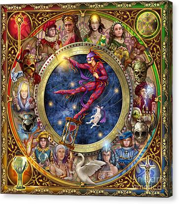 The Legacy Of The Devine Tarot Canvas Print by Ciro Marchetti