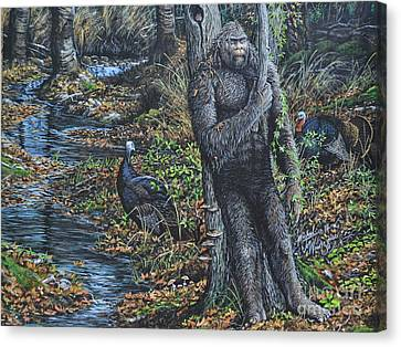 The Legend Of Gobble Creek Canvas Print by Michael Wawrzyniec