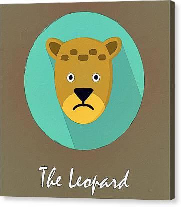 The Leopard Cute Portrait Canvas Print by Florian Rodarte