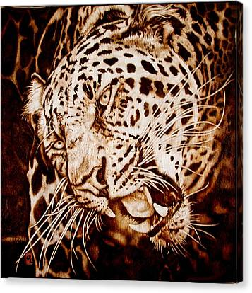 The Leopard's Hello Canvas Print by Cynthia Adams