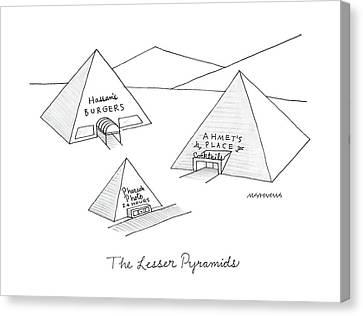 The Lesser Pyramids Canvas Print