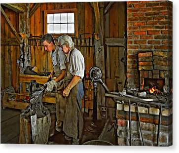 Antique Ironwork Canvas Print - The Lesson Oil by Steve Harrington