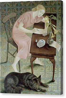 The Letter, 1993 Canvas Print by Patricia O'Brien