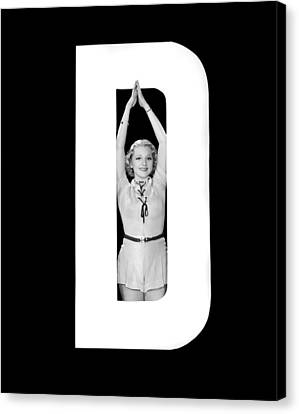 Full Skirt Canvas Print - The Letter d And A Woman by Underwood Archives